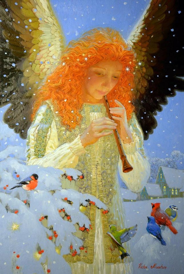 Ангелы / художник Виктор Низовцев