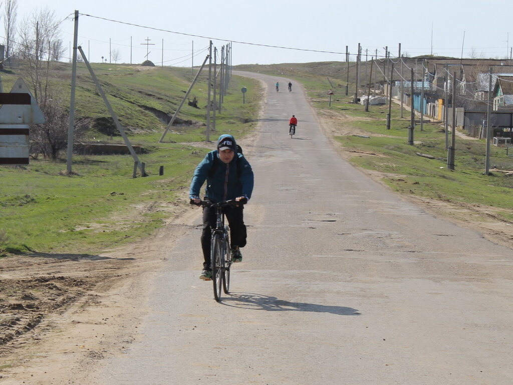 Поездка на велосипедах вдоль Иловли в Камышинском районе