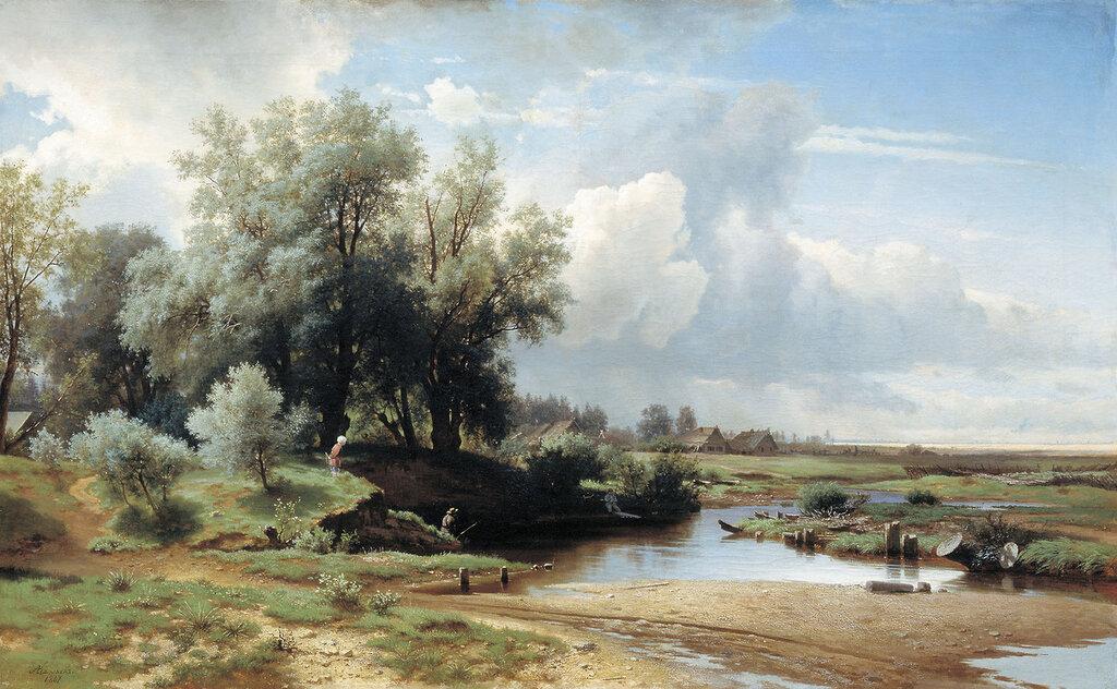 Пейзаж. 1861. Холст, масло. 89х143 см.jpg