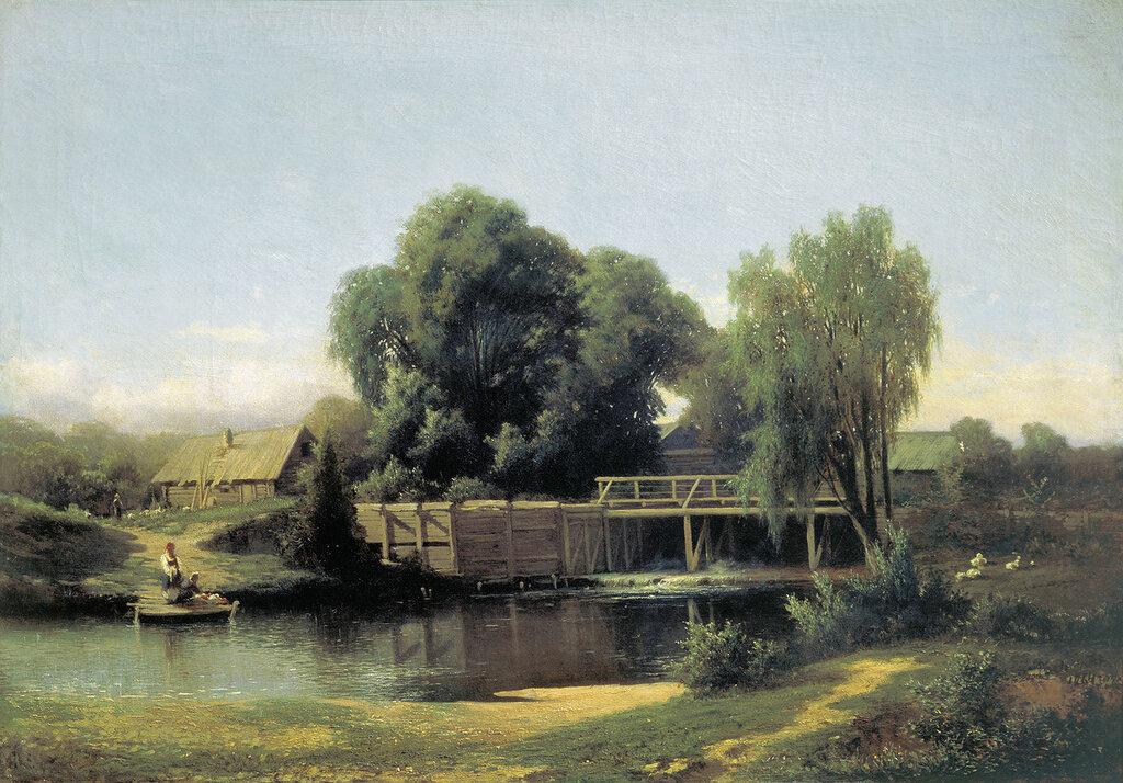 У плотины. 1864, холст, масло, 64х92 см.jpg