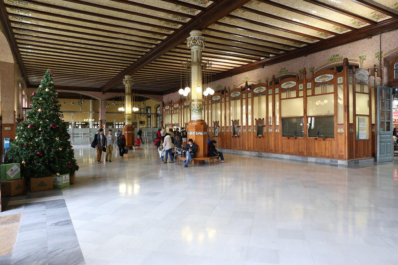 Valencia. Norte train station (Estación del Norte)