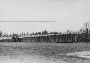 Строй молодых солдат бригады призыва 1912 года в день смотра.