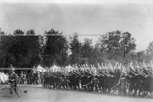 Павловцы во время марш-парада.