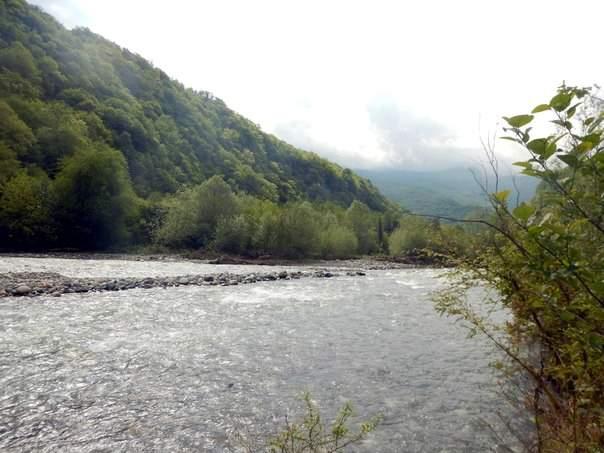 Абхазия, под парусом на Азовском море