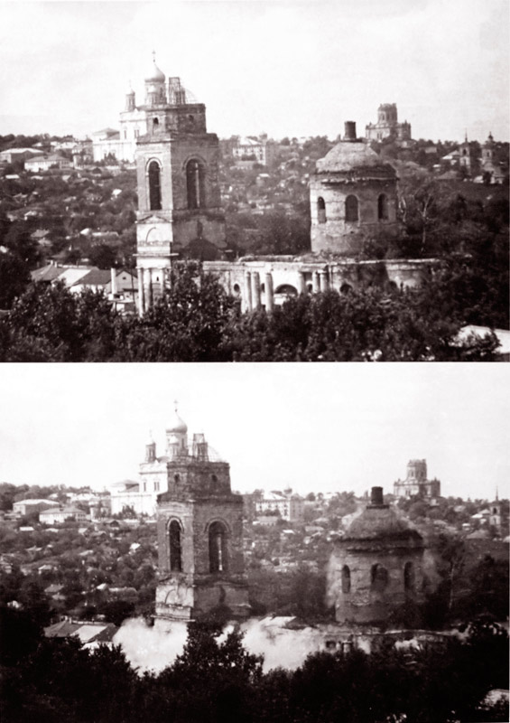 Взрыв Троицкой церкви в Ельце