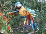 Попугай Ара сине-зелено-желтый.Текстиль.