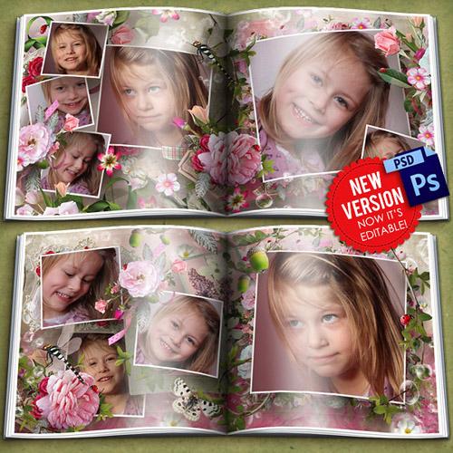 Фото книга - В окружении роз