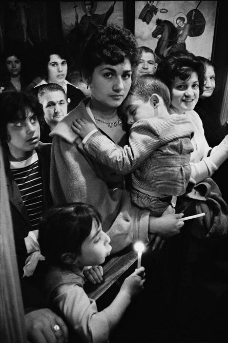 ENGLAND. North London. 1961. Greek Orthodox church.