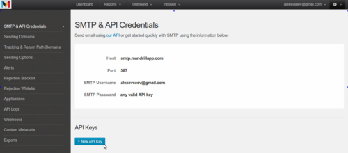 Create API_KEY step 2