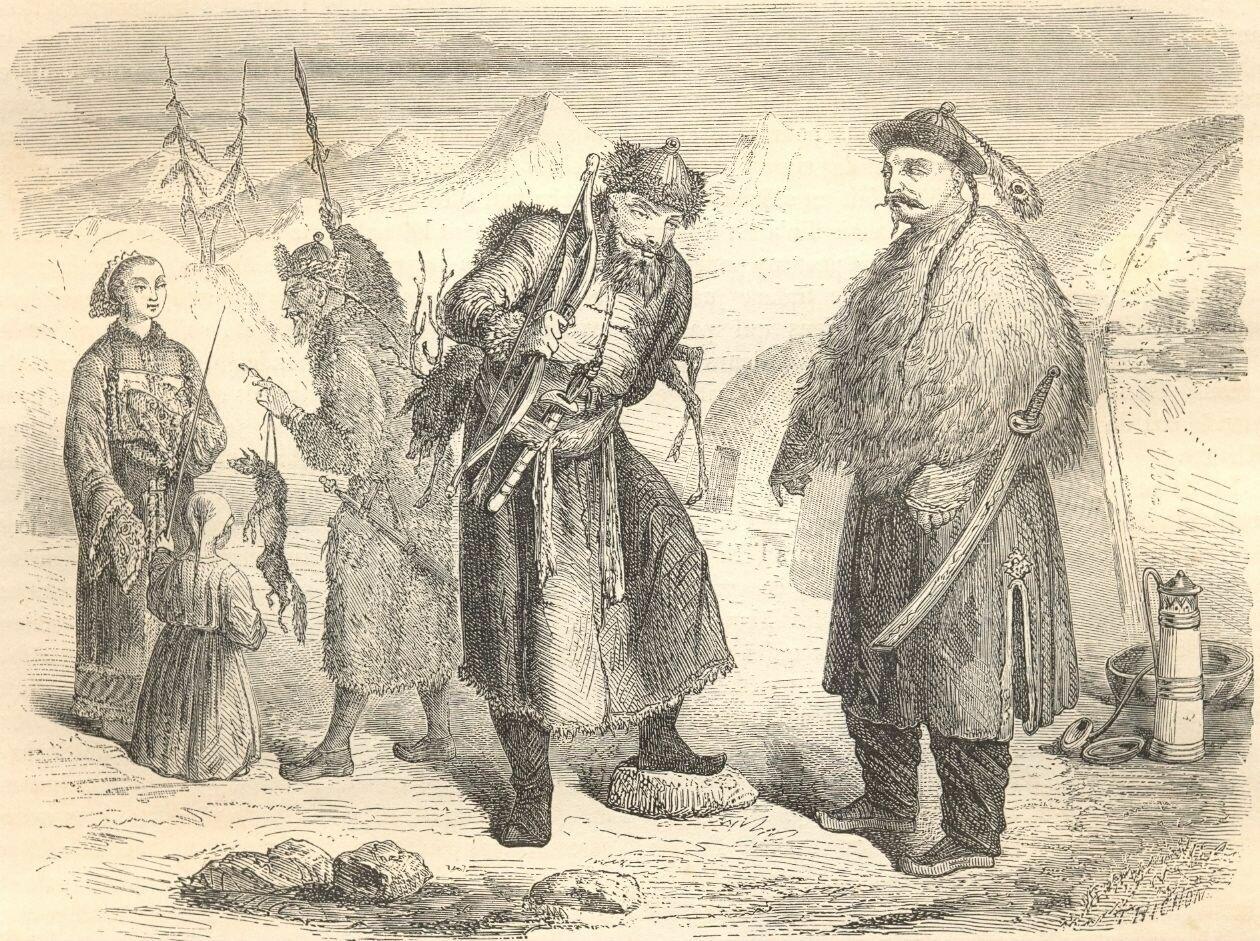 1860. Типы маньчжуров и тунгусов