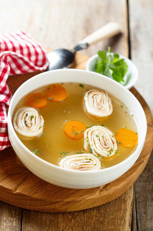 Суп с блинами или Frittatensuppe.