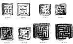 Изображение свастики на печатях, Лотхал, долина Инда