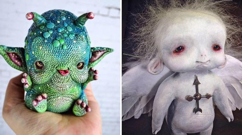 Жутковатые кукольные персонажи испанской художницы