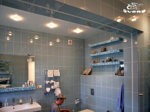035. ванная комната, мозаика, полки из мозаики, интерьер