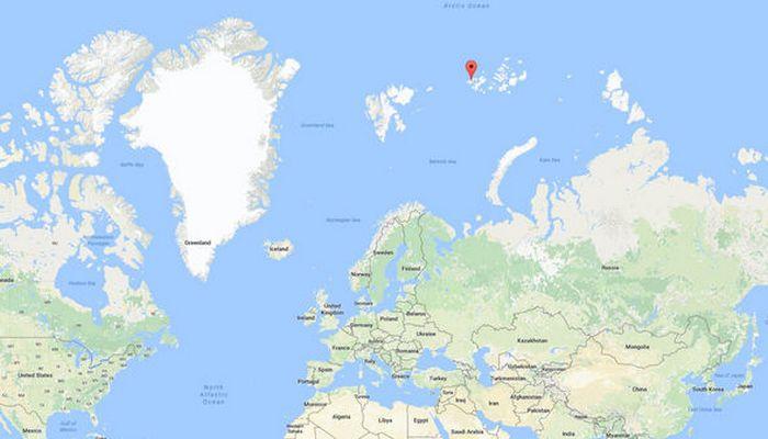 Геолокация острова Земля Александры./фото: express.co.uk  Во время исследования богом забыто