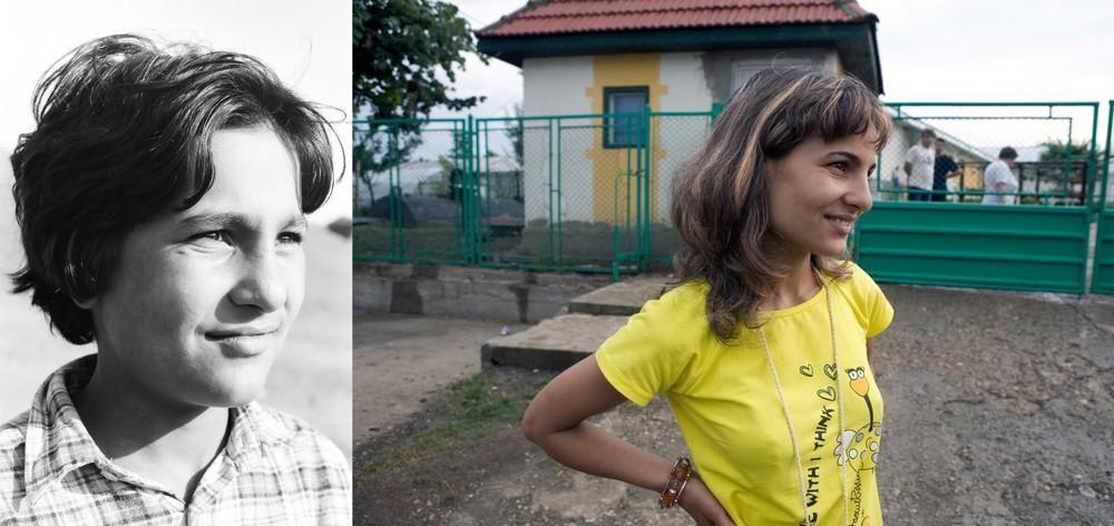 Рамоне Станица в 1997 году было 12 лет. Второе фото было сделано в 2009 году, рядом с приютом. Она п