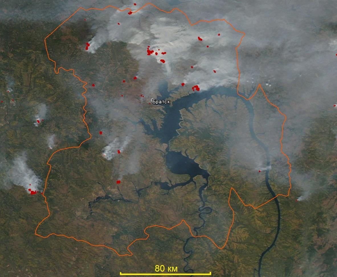 Семь лесных пожаров действуют вИркутской области