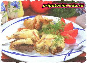 Мясо запеченное по-московски