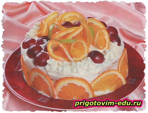 Фруктовый торт «Мандаринка»