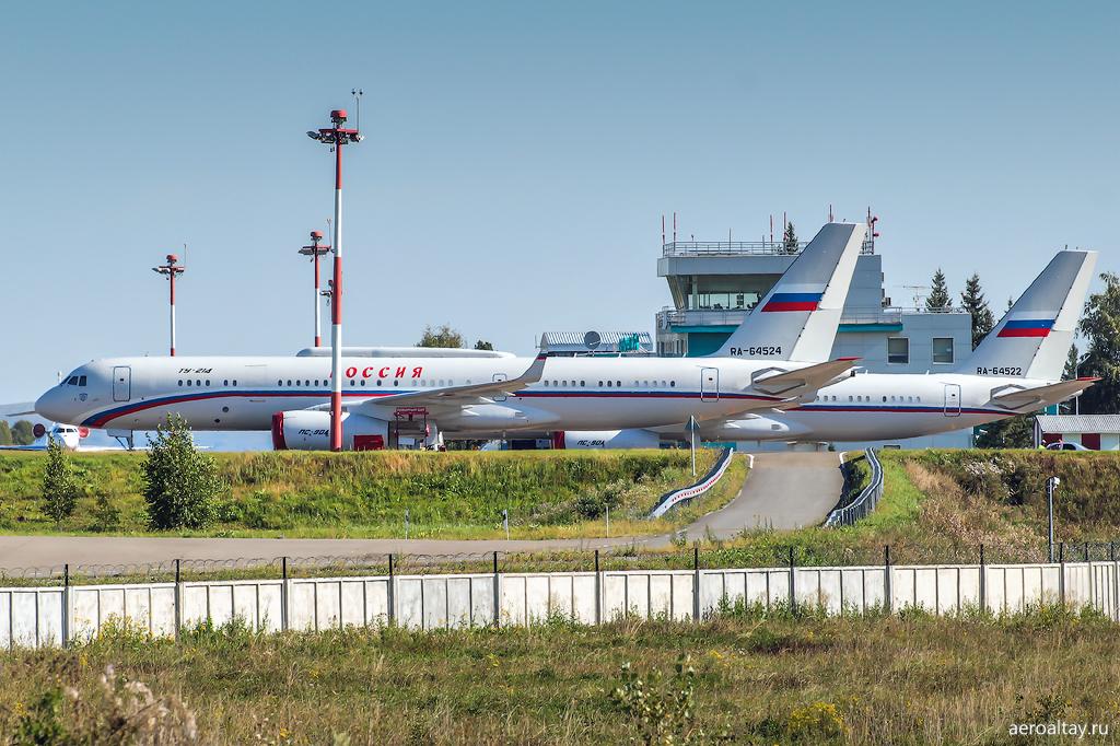 Самолеты Путина на Алтае