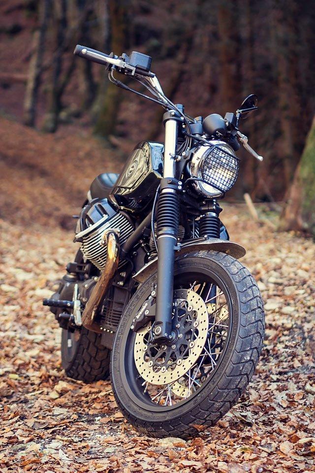 Officine Rossopuro: скрэмблер/классик Moto Guzzi Bellagio