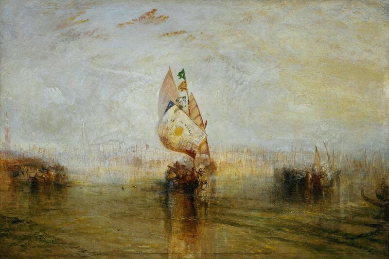 The Sun of Venice Going to Sea exhibited 1843 by Joseph Mallord William Turner 1775-1851