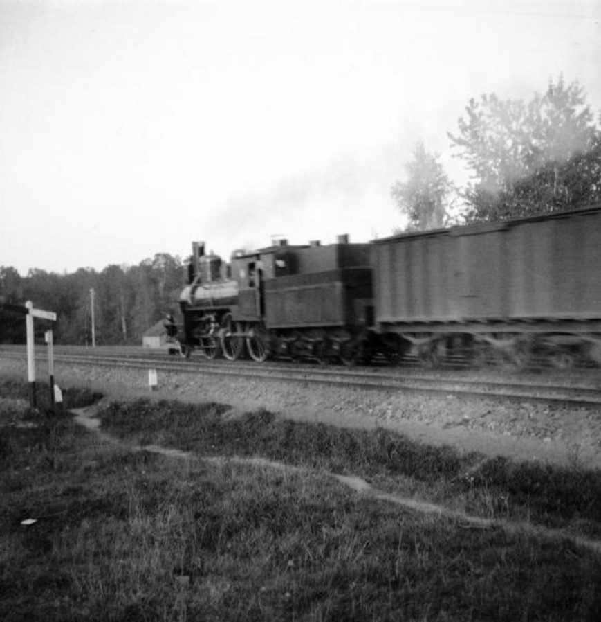 Сокольники, Ярославская дорога, близ Яузы. Поезд на полном ходу