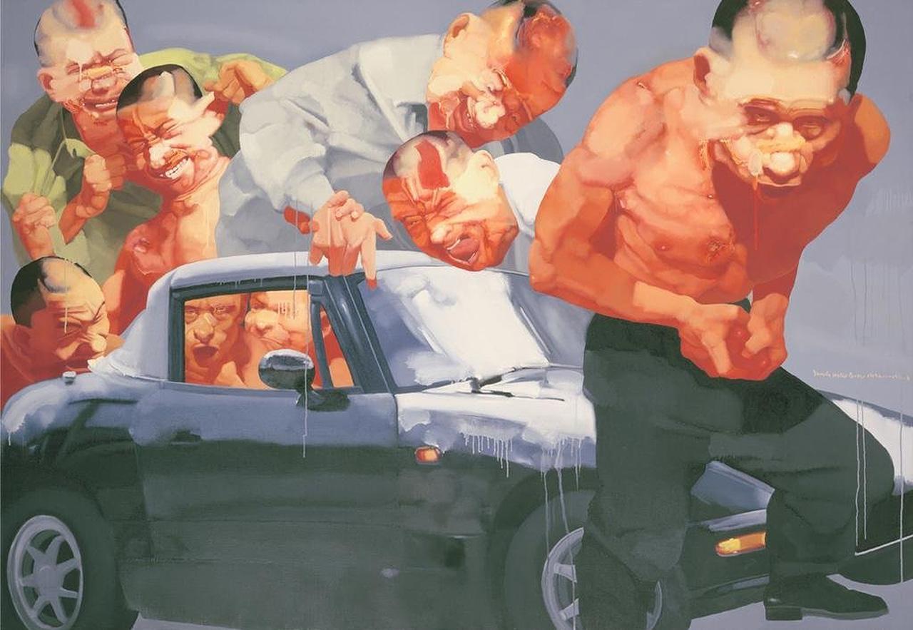 The Battling Crowds II,  2009. By Yang Shaobin