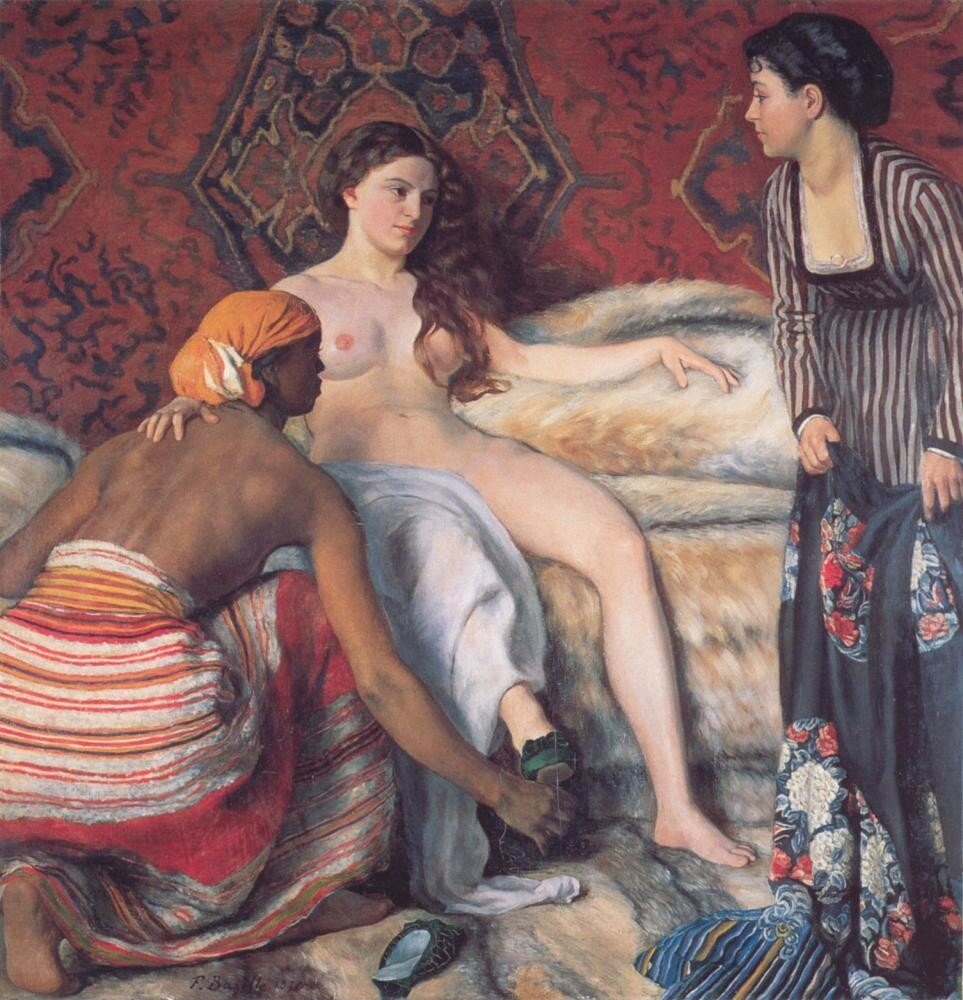 Утренний туалет.  La Toilette, Базиль, Фредерик(1841—1870);
