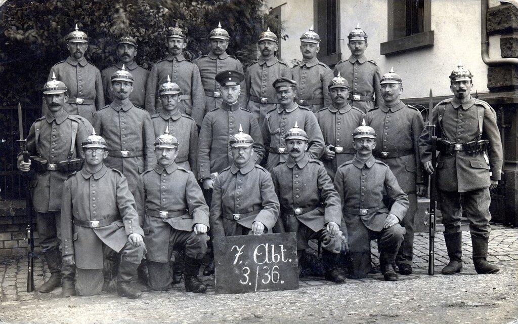 7. Abteilung, 3. Kompanie, Landwehr-Infanterie-Regiment Nr. 36, 5th Landwehr Division.