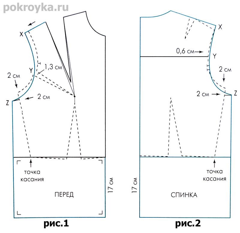Викрійка основи блузки - Різне - Все про шиття - Ший сама 8844ea7a5062b