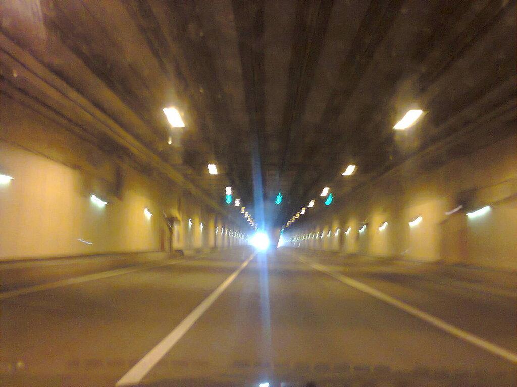 Освещение тоннеля КЗС (внутреннее кольцо). Май 2014 года.