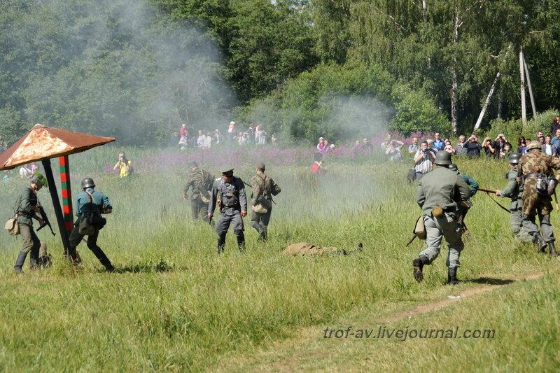 Бой с советскими пограничниками. 22 июня, реконструкция начала ВОВ в Кубинке