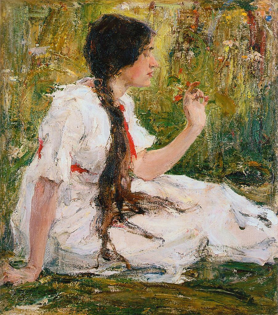 Весна в степи (Портрет А.Н.Фешиной) (1913).jpg