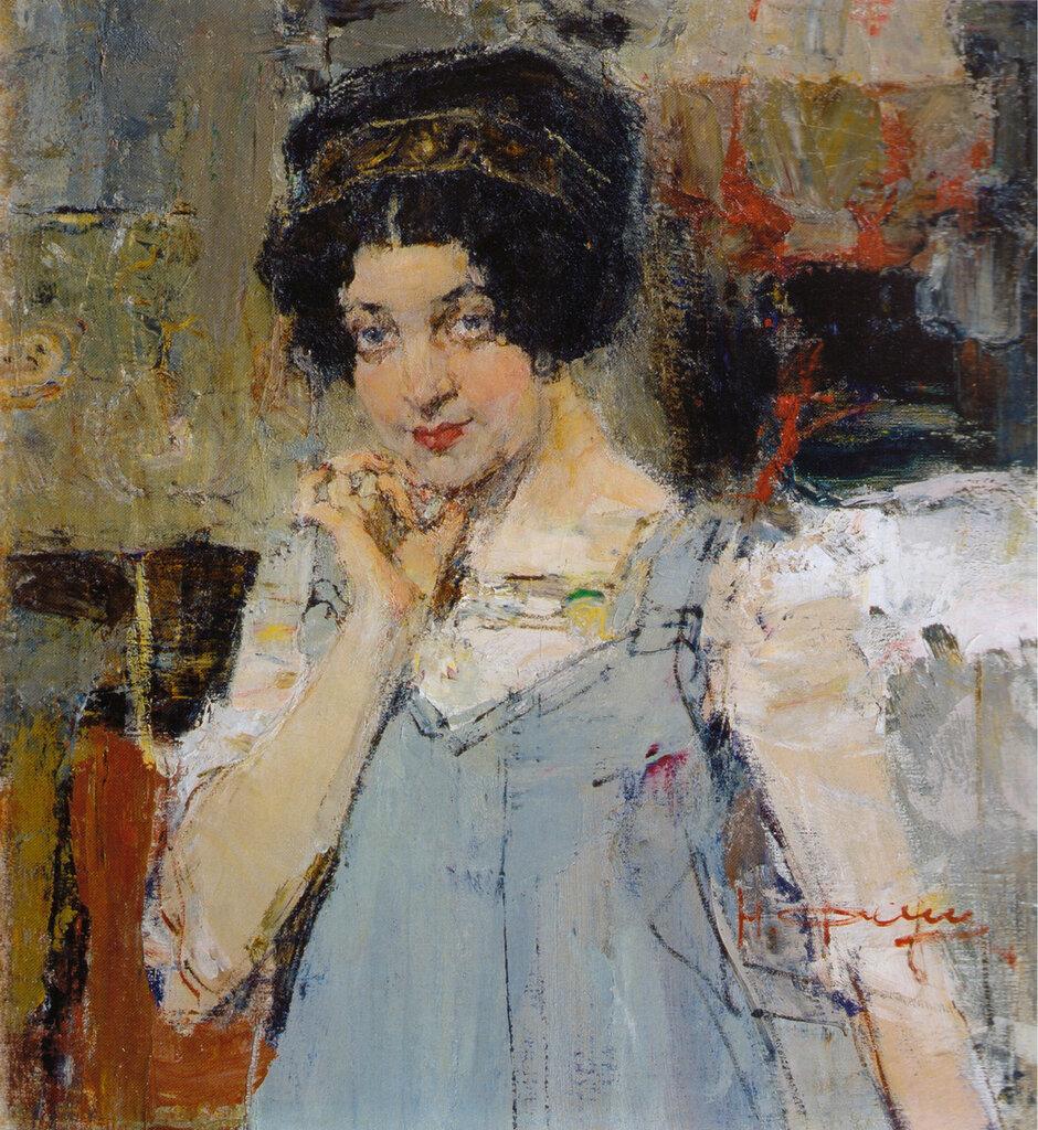 Портрет жены архитектора Сидорченко (1915).jpg