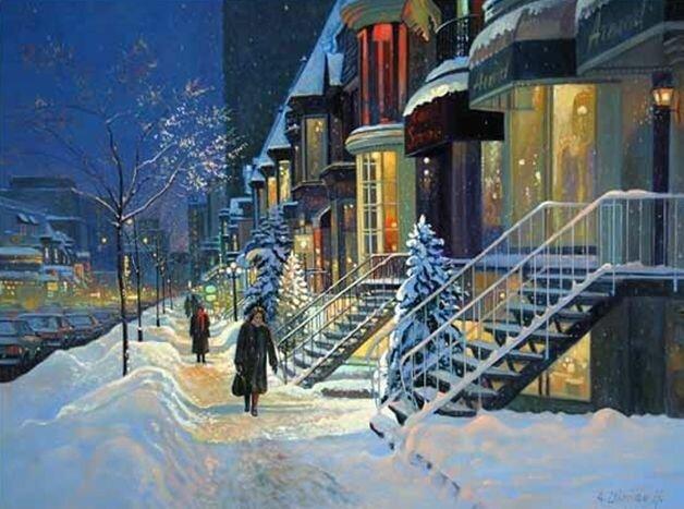 Вечер на город мой тихо спускается, Ночь приближается в свете огней. Andris Leimanis