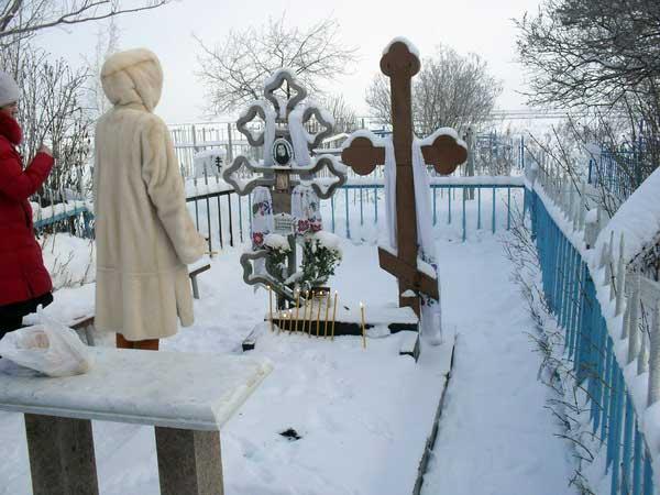 Так выглядела могила Евдокии Маханьковой зимой 2010 года (19.05.2014)
