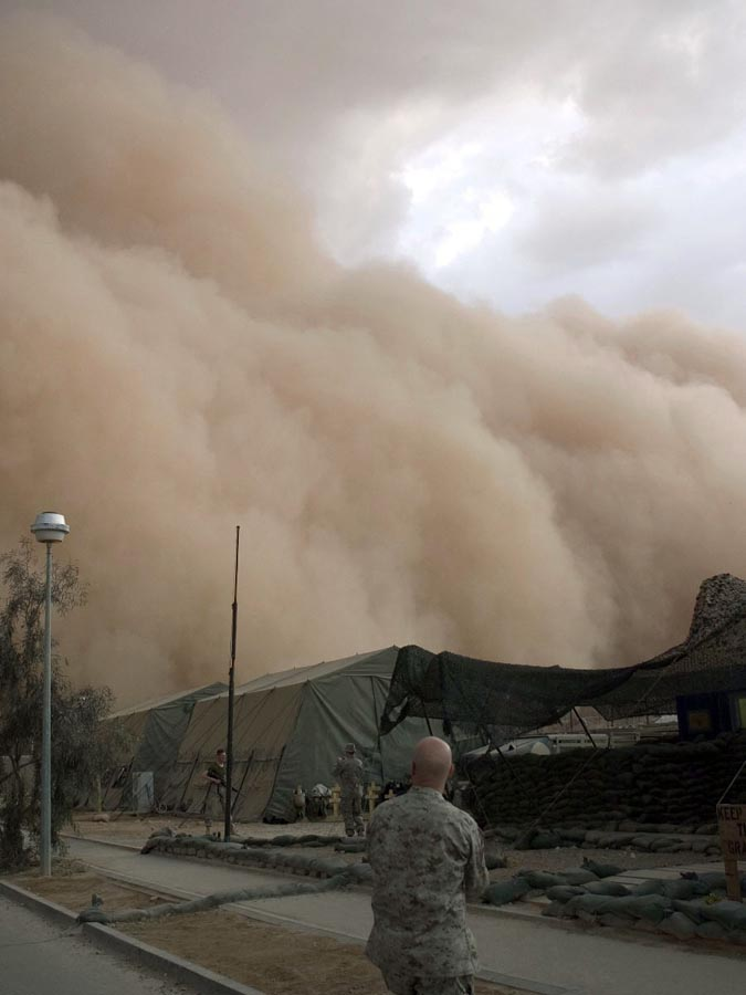 15. По свидетельству экологов, в последние годы песчаные бури случаются в десять раз чаще, чем это б
