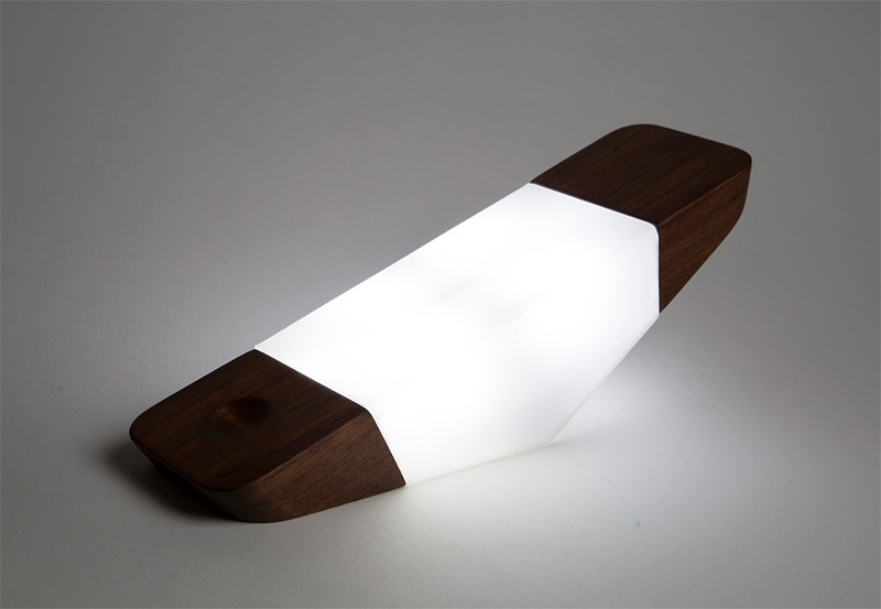 Prism: A Wireless Nightlight That Tilts like a Seesaw