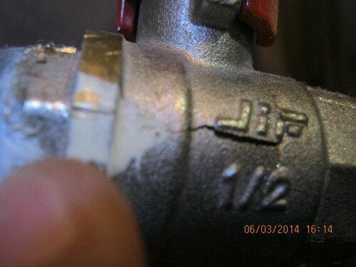 Опрессовка выявила трещину в корпусе клапана