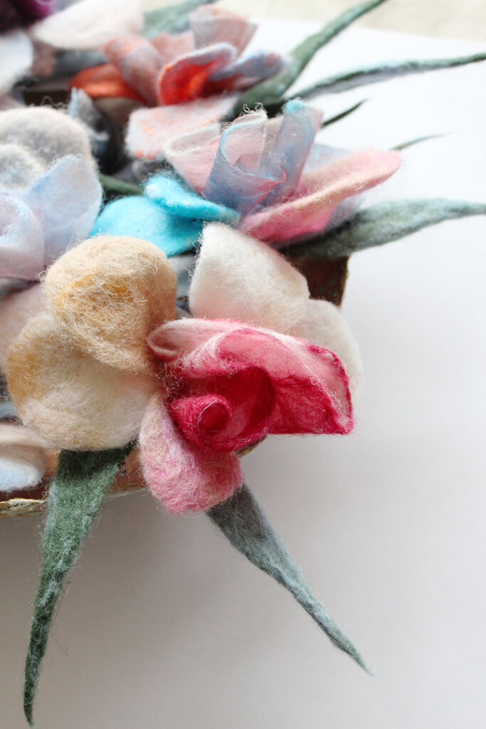 rose brooches Felt&Paper