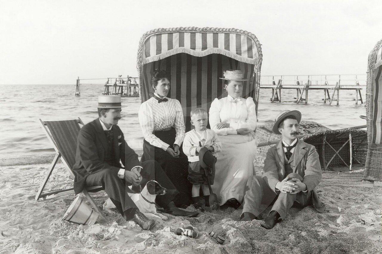 1900. Пляжная жизнь в Кюлунгсборне