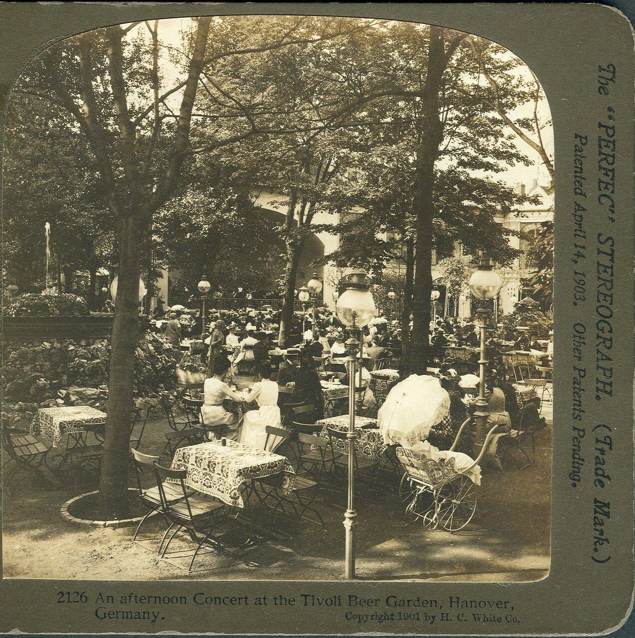 1901. Гановер. Вечерний концерт в Пивном саду Тиволи