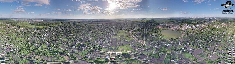 Панорама с высоты в районе дач Химмаша