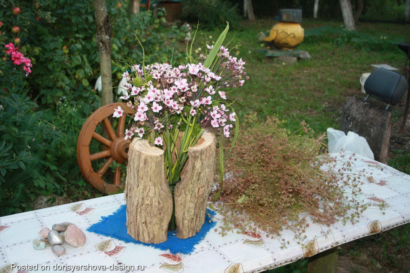 цветочные композиции, дача, сам себе дизайнер