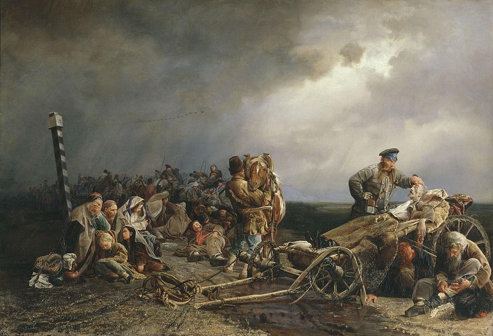«Привал арестантов», (1861) — Государственная Третьяковская галерея..jpg
