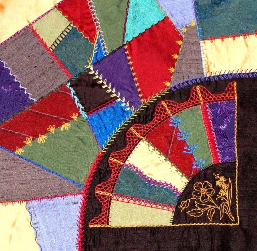 Crazy-patchwork... Крейзи-печворк.