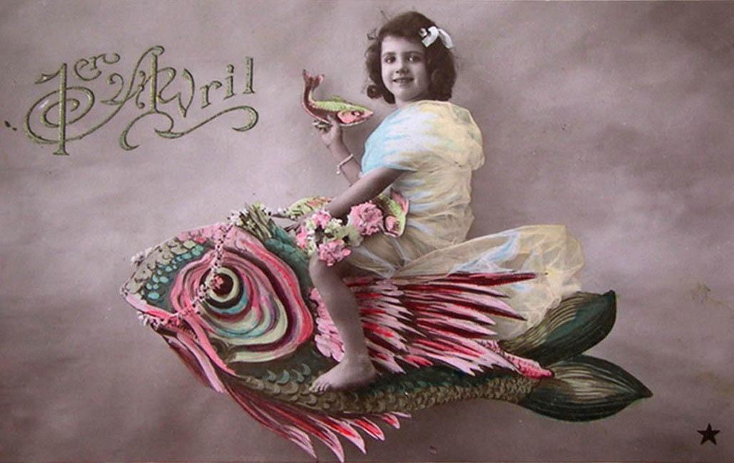 1 апреля. Девочка и рыба