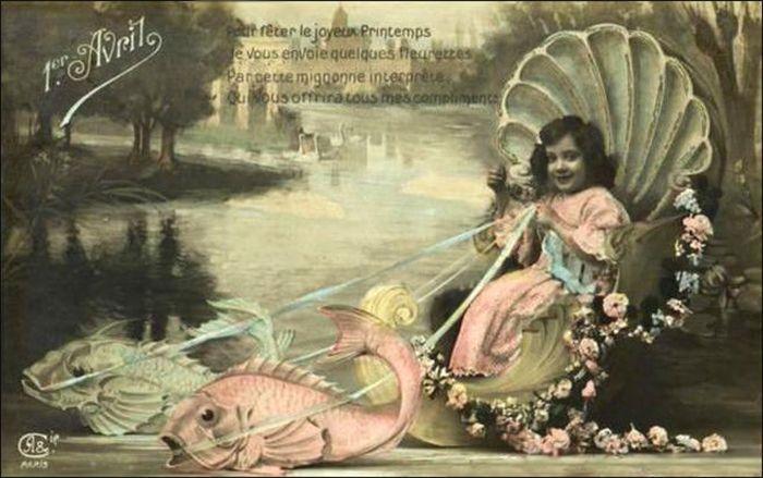 1 апреля. Девочка и рыбы