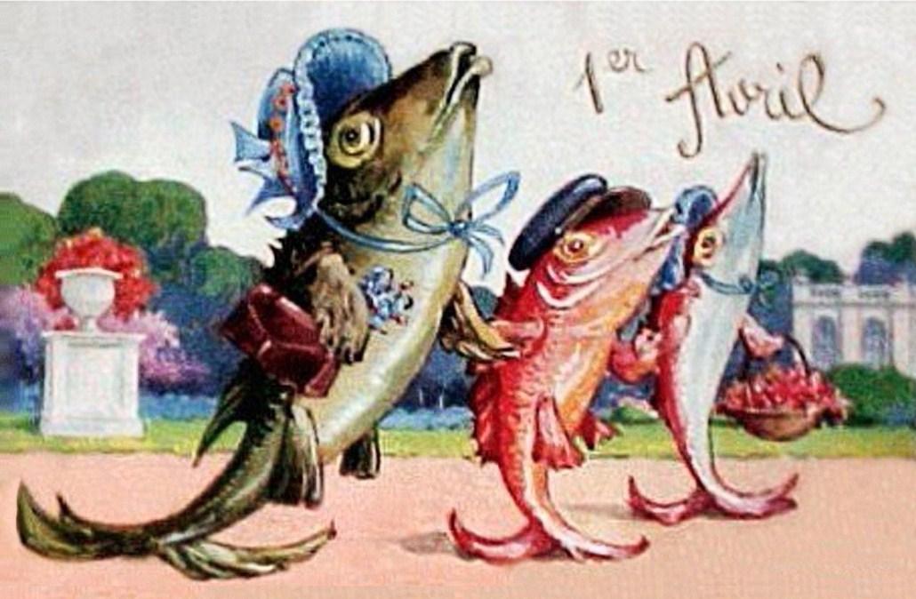 1 апреля. Рыбы по суху гуляют
